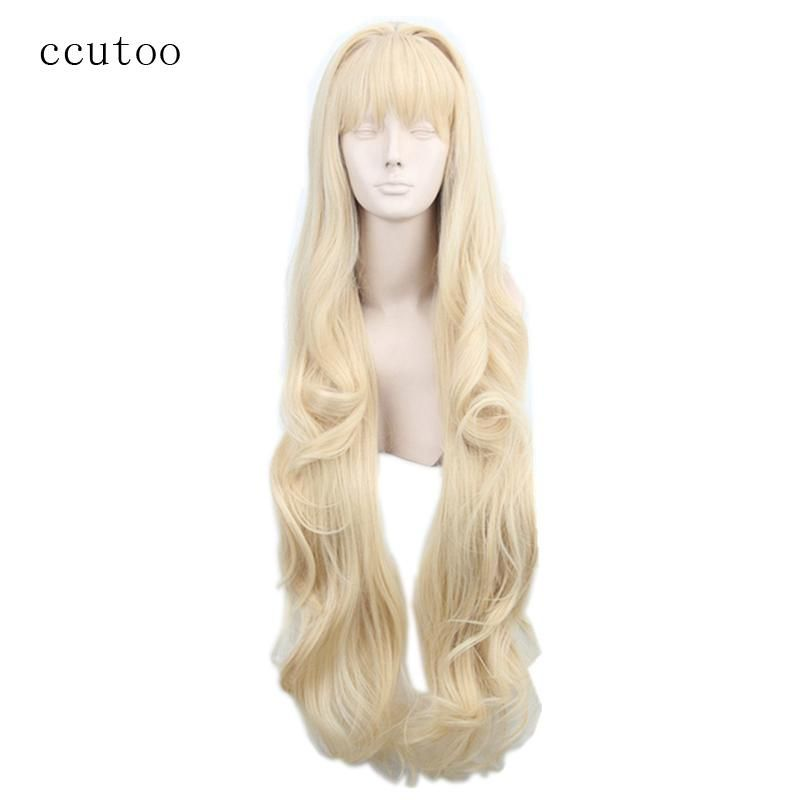 Ccutoo Womens Synthetic Hair Straight Grey Long Harajuku Cosplay Costume Wig Synthetic None-lacewigs Synthetic Wigs