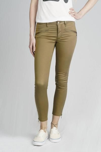ff851e0fbb The Zipper in Sage by Monkee Genes - These jeans have a skinny fit and and a  sateen finish. Cropped just above the ankle