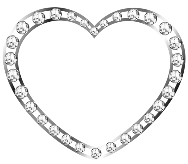 Silver Heart With Diamonds Free Clipart Free Clip Art Clip Art Freebies Diamond Free
