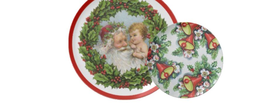 vintage christmas decorative plates - Decorative Christmas Plates
