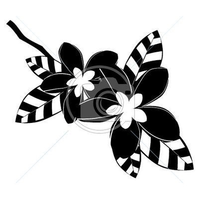 black and white flower clipart | Clip art: Black and white ...