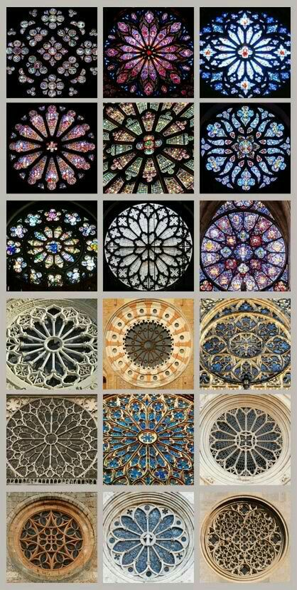 Rose Window And Stained Glass Examples
