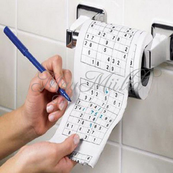Interesting Sudoku Su Printed Tissue Paper Toilet Roll Paper Puzzle Game #UNBrand