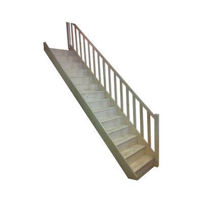 Scala a rampa grezza scala fai da te pinterest for Scale in legno fai da te