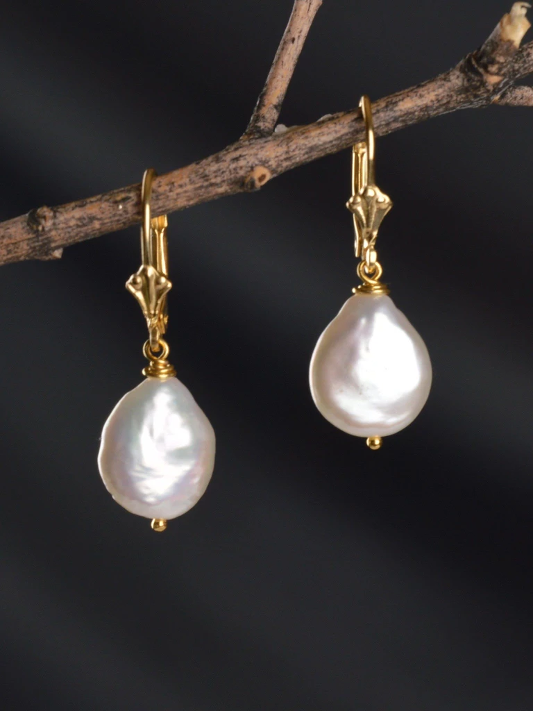Coin Pearl Drop Earrings Bridal Earrings Harmony Scott