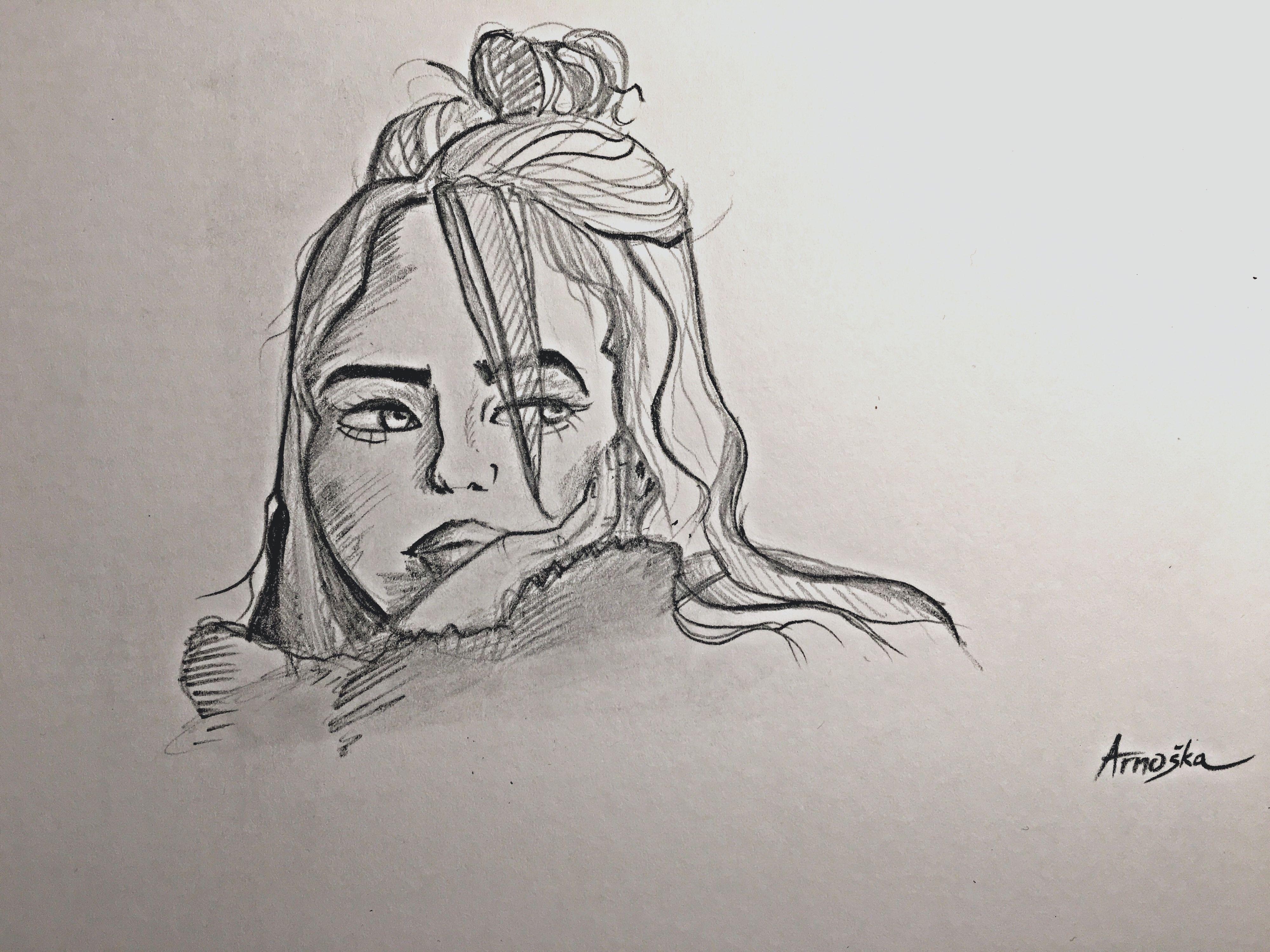 billie eilish again #billie #eilish #drawing #cartoon #