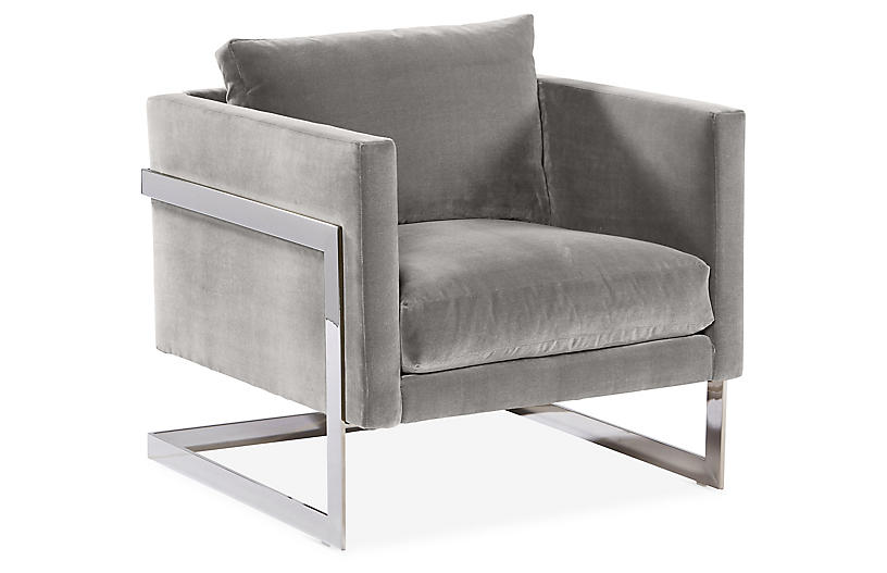 Miraculous Geneva Accent Chair Light Gray Crypton Robin Bruce Pdpeps Interior Chair Design Pdpepsorg