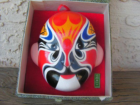 Wall Mask Decor Enchanting Chinese Beijiing Opera Mask Wall Art Hangingretrosideshow Decorating Design