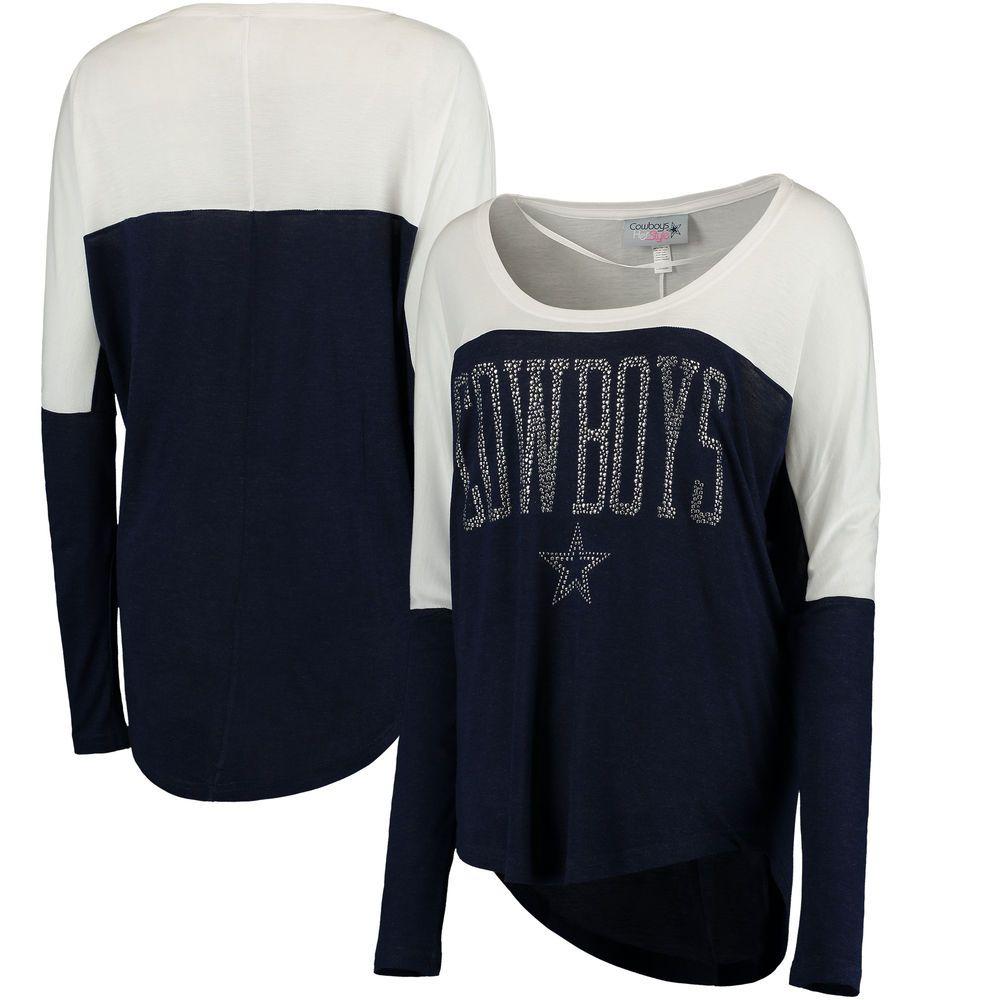 d68442d5bd4 Dallas Cowboys Women's Oversized Poole Long Sleeve Top - Navy ...