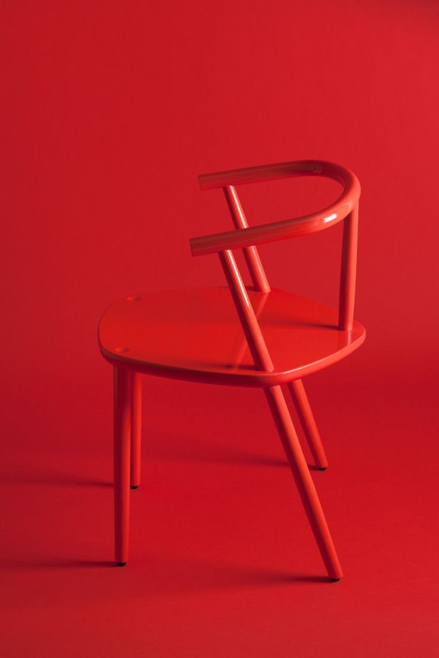 Five red armchair by Claesson Koivisto Rune for Matsuso T