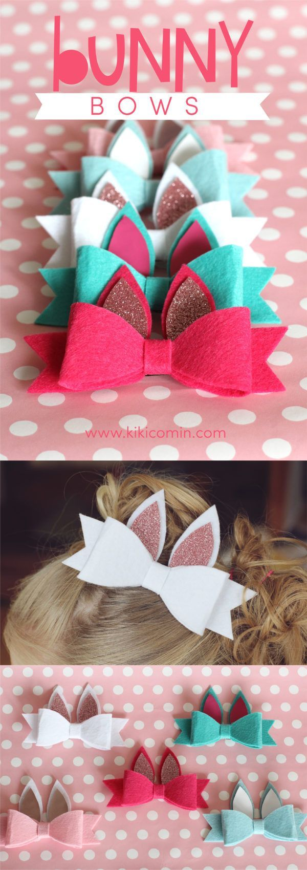 Bunny Bows with Expressions Vinyl #bows