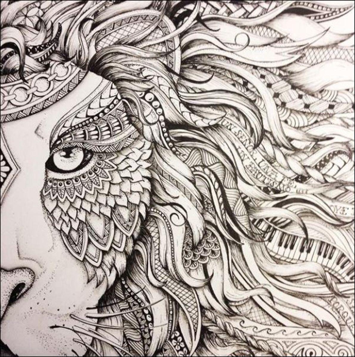 Lion Eye Big Cats To Colour Pinterest Art Pencil Art And Lion