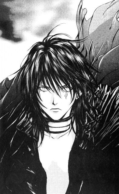 OMG - this is probably my favourite version of Luzifer!! Art by Kaori Yuki from Angel Sanctuary