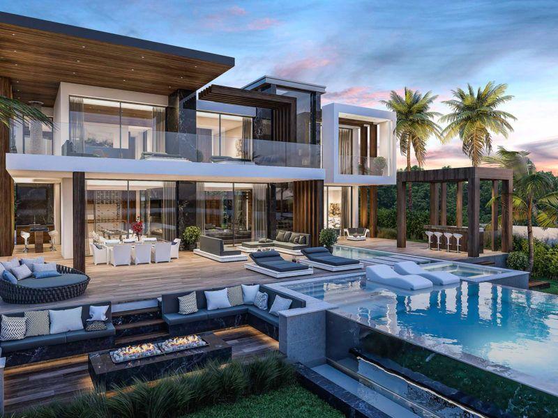 Arquitectura y construcción moderna Villa de lujo Marbella ...