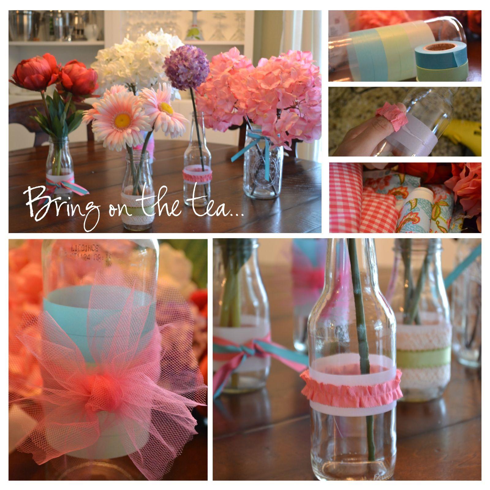 Party Decorations Centerpieces | princess tea party | budget party ideas |  DiY flower centerpieces