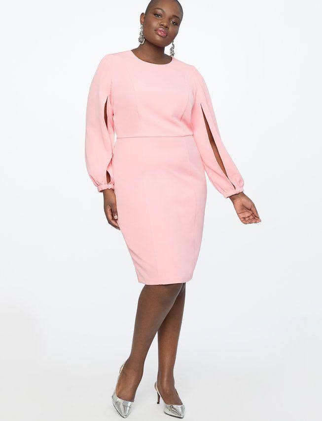 ba899f3a521 Slit Sleeve Work Dress from eloquii.com