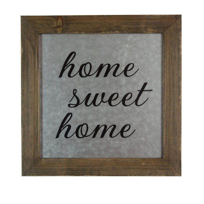 Home Sweet Home Galvanized Metal Wall Dcor Metal Walls Metals