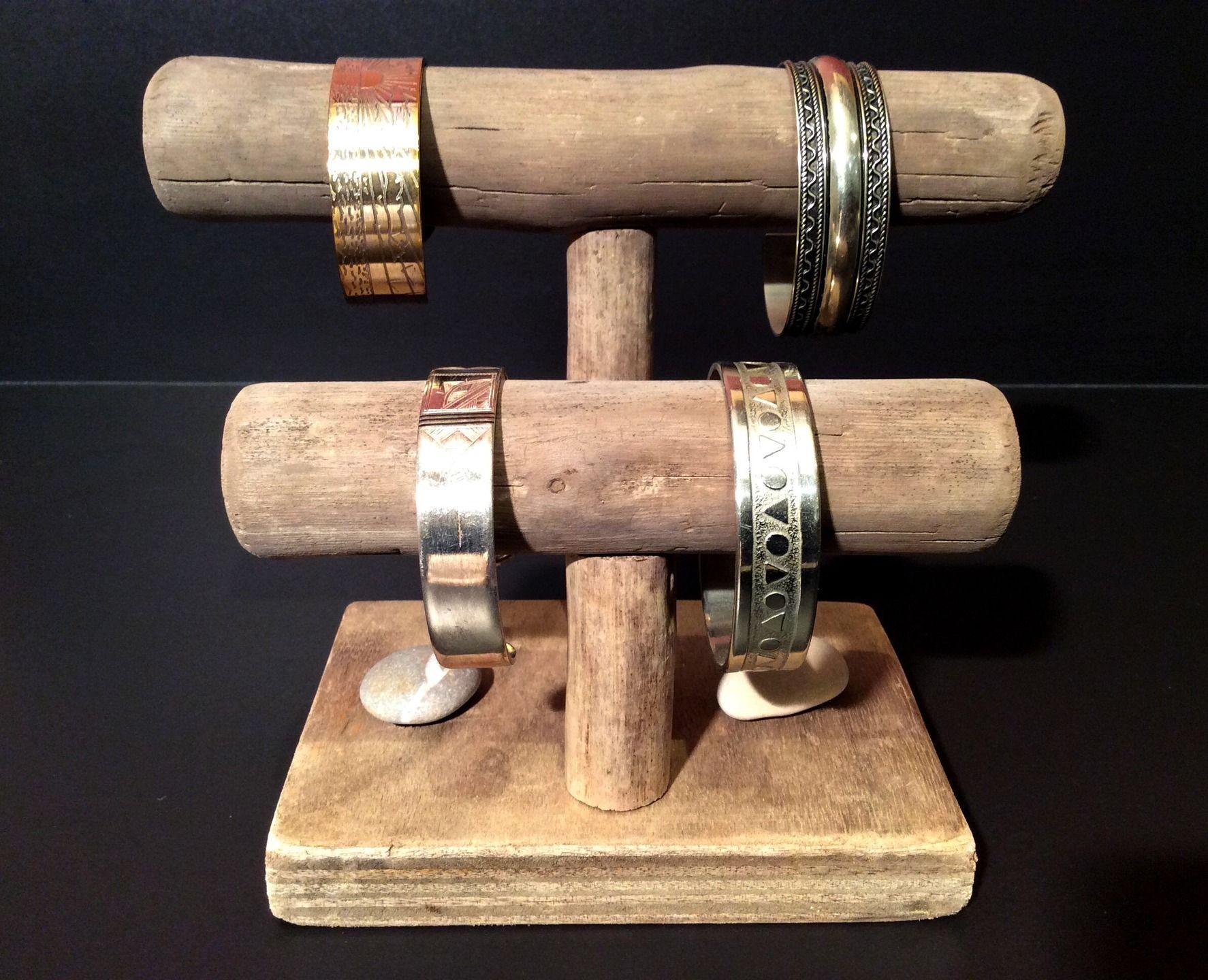 Porte bracelets en bois flott par l 39 atelier de corinne for Magasin bois flotte