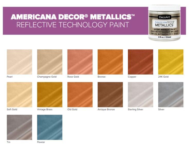 Americana Decor Chalk Paint Color Chart