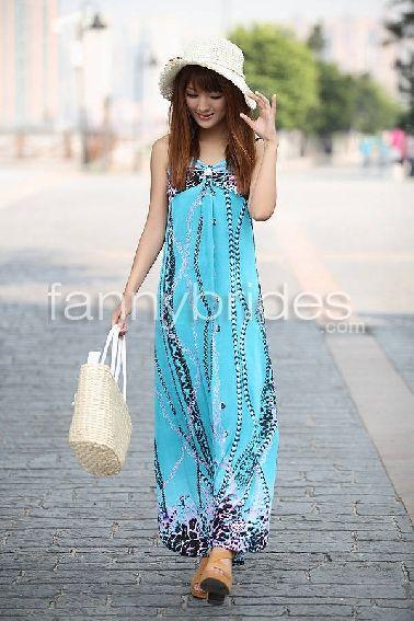 e78159b09c Graceful Hy-Line Panther Print Bohemian Ankle Length Maxi Dress -  Fannybrides.com