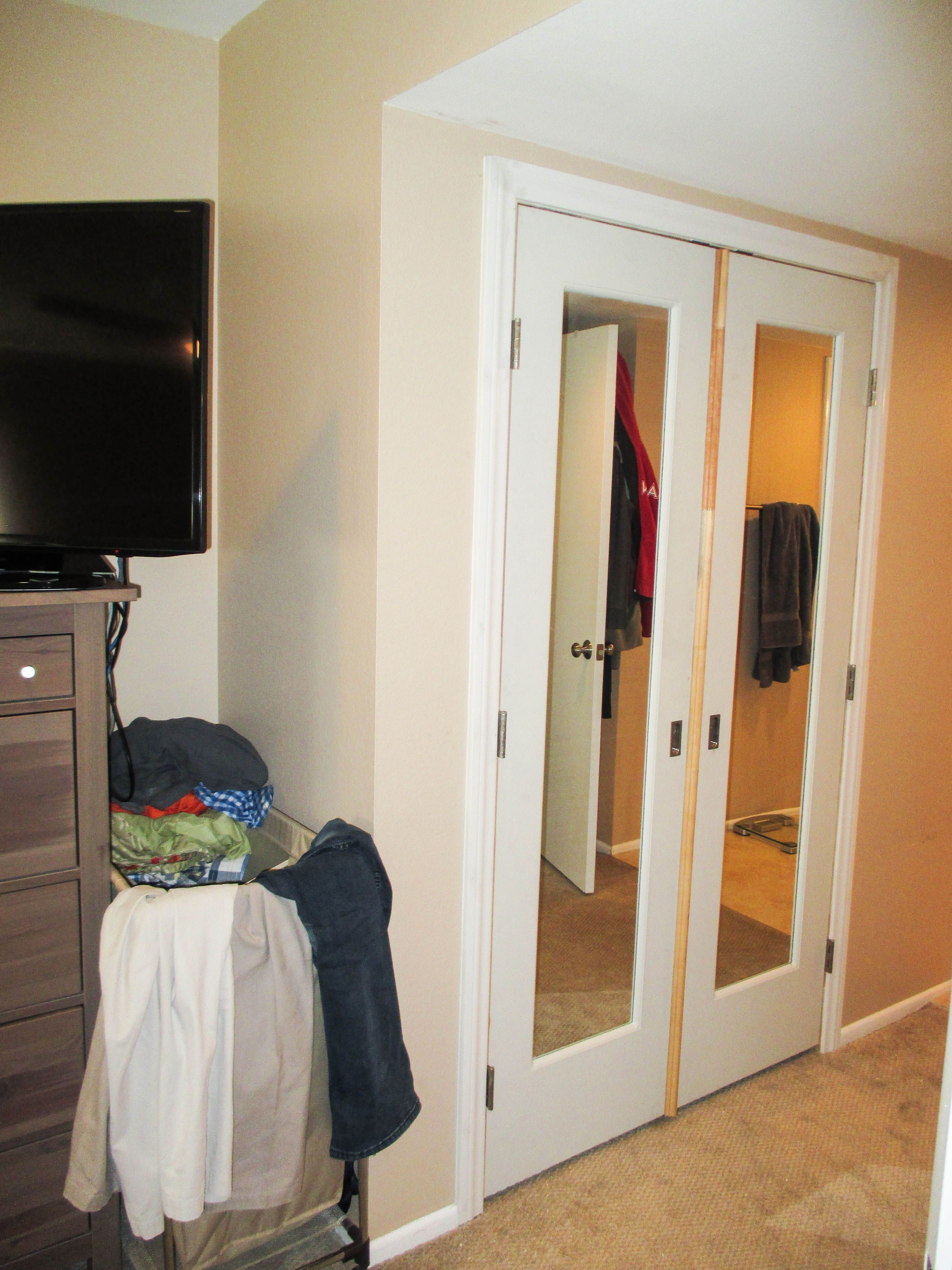 Have you been procrastinating installing new Closet Doors Check out this interior swinging