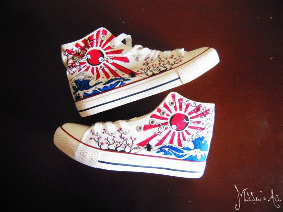28733f19344a4c Japanese hand painted shoes   The great wave off by MatitasArt ...