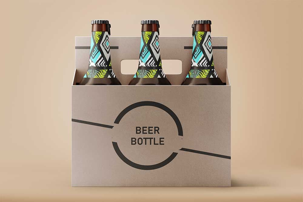 Download Free Beer Bottle PSD Label Mockup #Beer #Bottle #PSD # ...