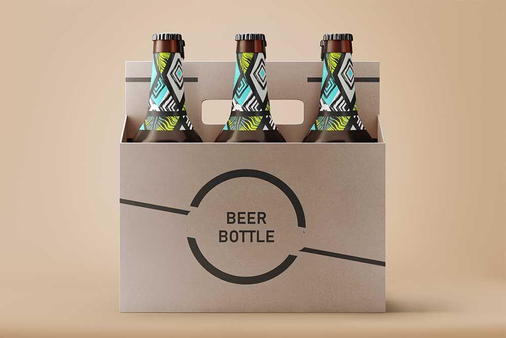 Download This Free Beer Bottle Psd Label Mockup Free Beer