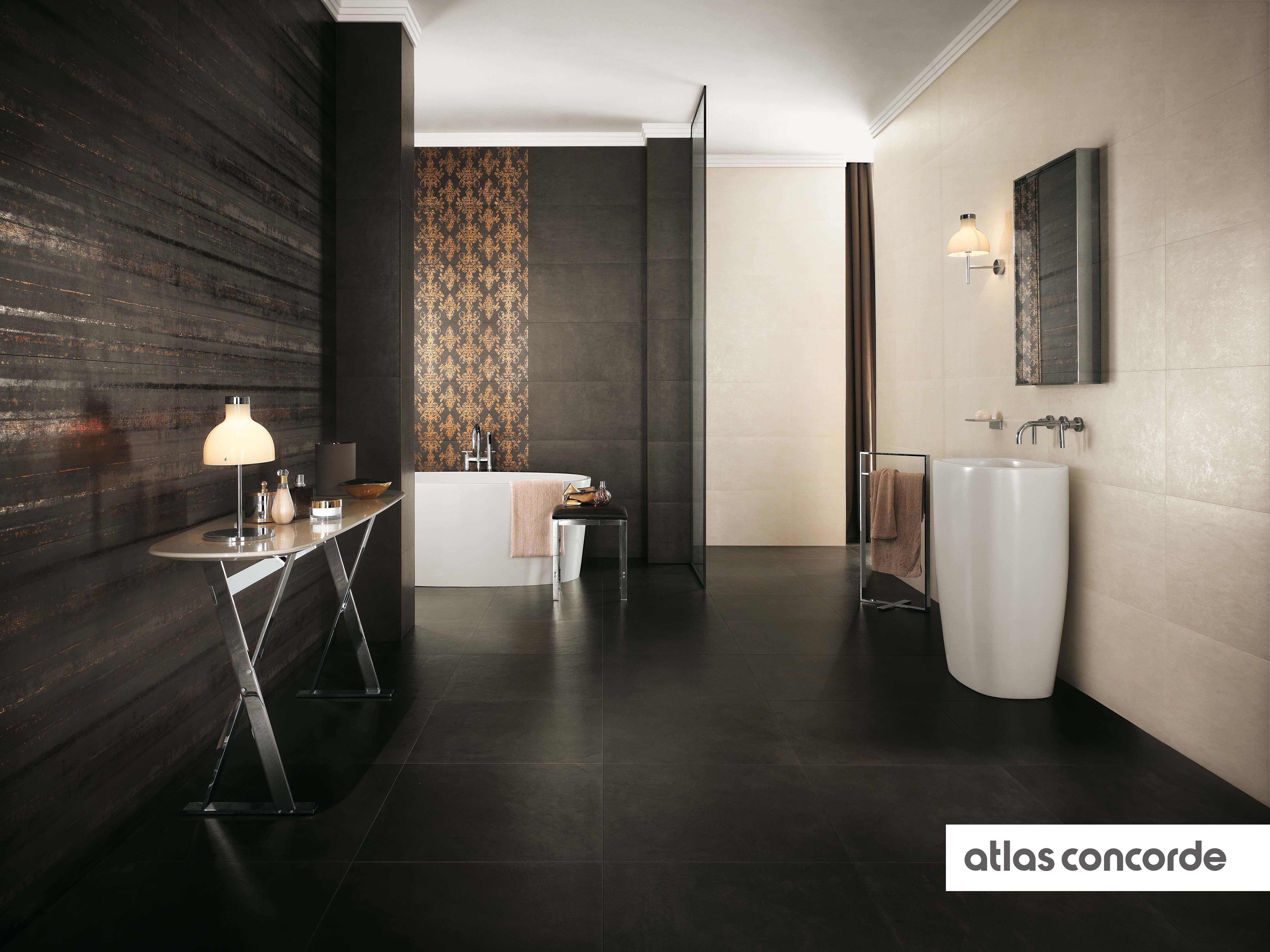 #EWALL moka and white   #AtlasConcorde   #Tiles   #Ceramic