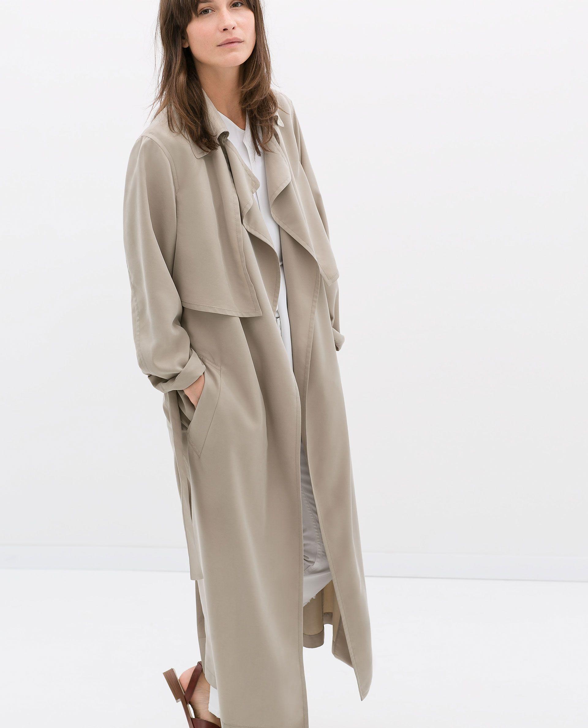 Zara Studio Long Flowy Trenchcoat Fashion Fashion Gone