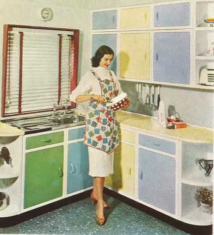1950 Kitchen Cabinets a kitchen design timeline: 100 years of kitchen evolution