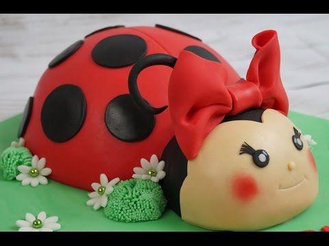 Marienkfer Torte  Ladybird Cake  Marienkfer Kuchen  Fondant Cake  Motivtorte  YouTube