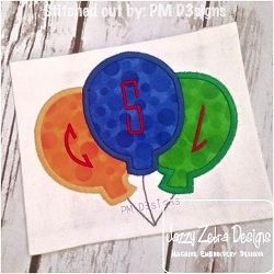 3 Balloon Applique - 3 Sizes! | What's New | Machine Embroidery Designs | SWAKembroidery.com Jazzy Zebra Designs