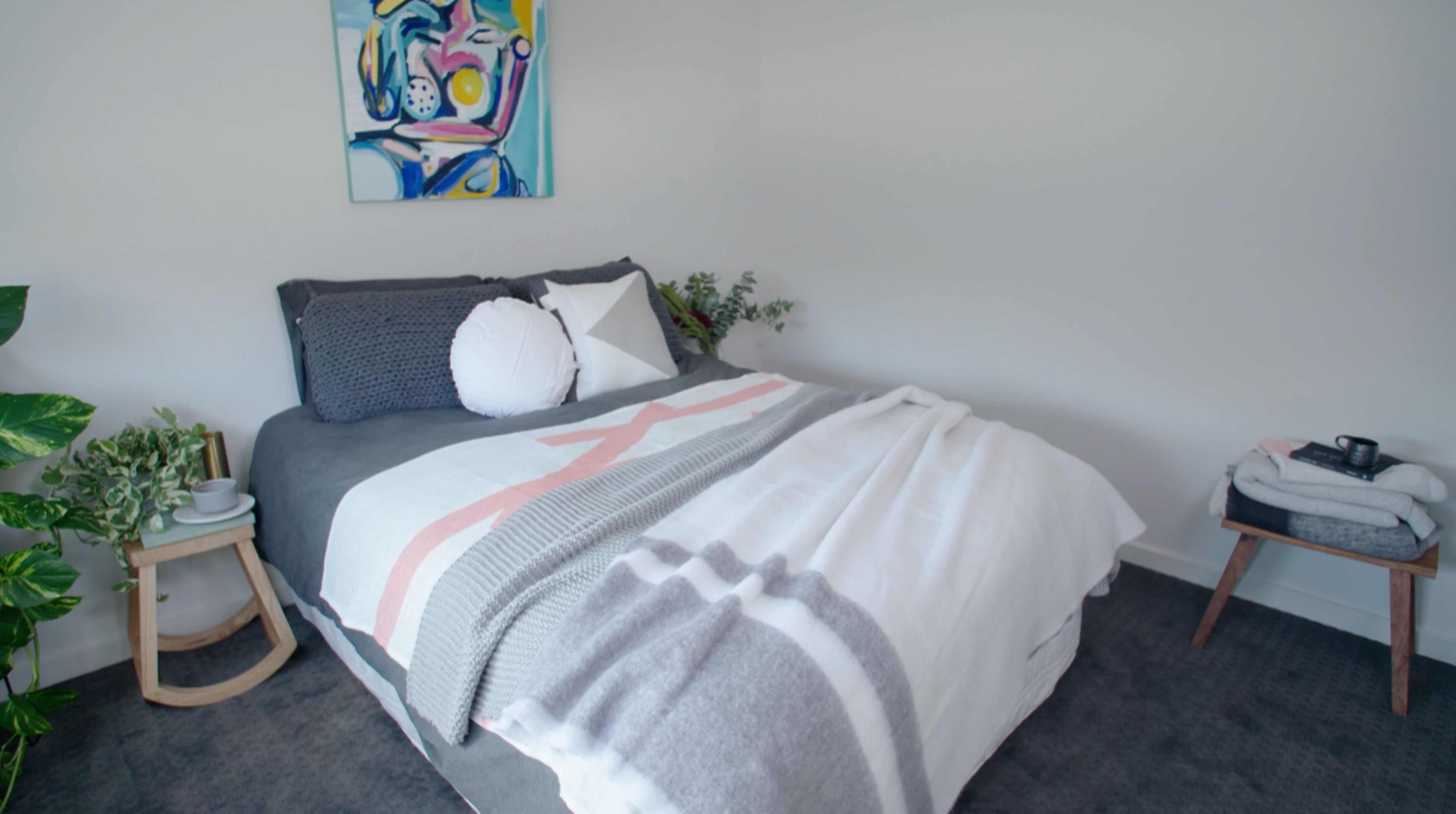 Watch the video of tips & tricks of bedroom styling by Dani Wales kateandkate.com.a... // #exhalebykateandkate #kkblankets #kklinen #kateandkate #design #inspiration #interiors #styling #blog