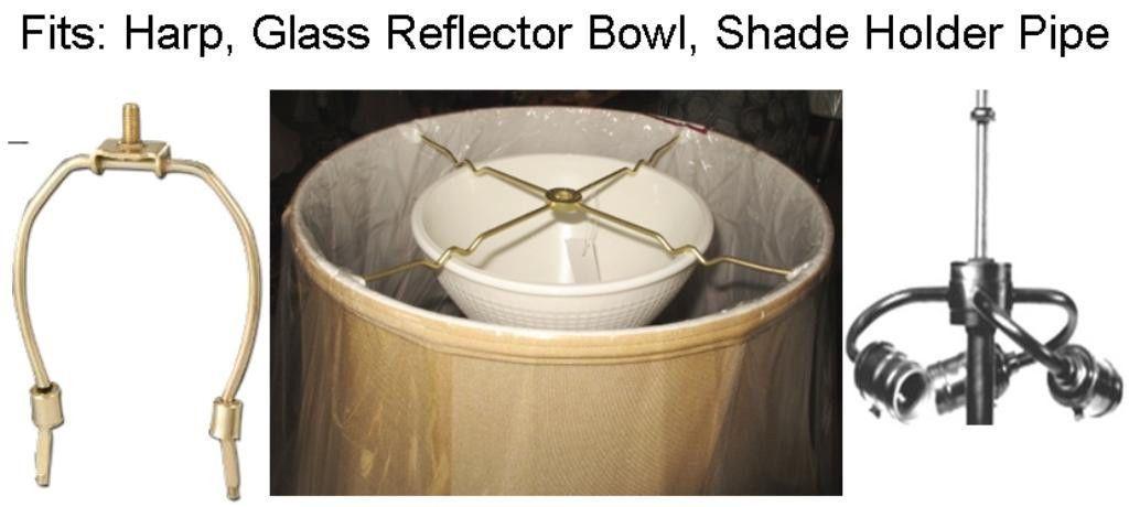 Good Stiffel Lamp Shade Sits On Glass Bowl Or Harp