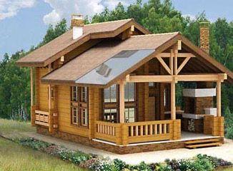 Проект бани с террасой: фото и примеры   Архитектура дома ...