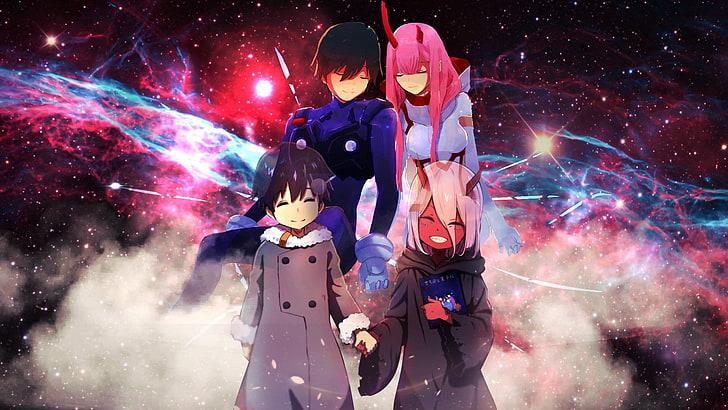 HD wallpaper: Anime, Darling in the FranXX, Galaxy, Hiro (Darling in the FranXX)