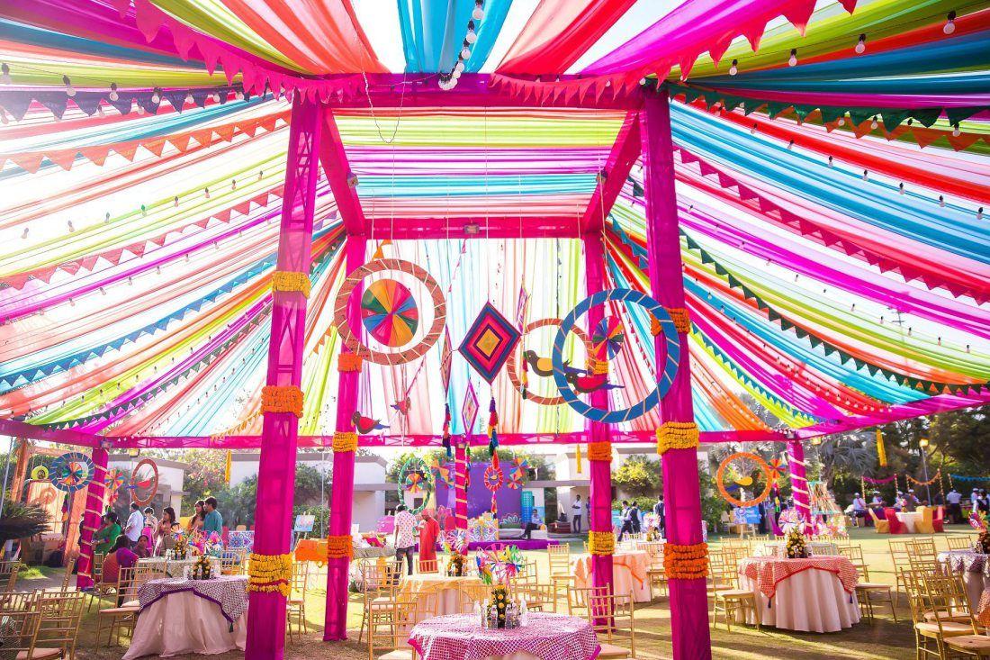 Mela Theme Colorful Mehndi Sangeet Wedding Photography Ahmedabad ...