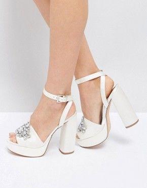 Wedding Shoes Bridal Cream White Heels Asos