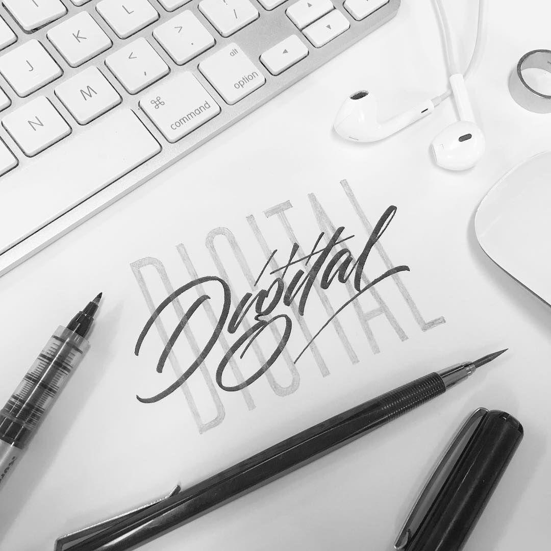 Brush Pen Logo Design