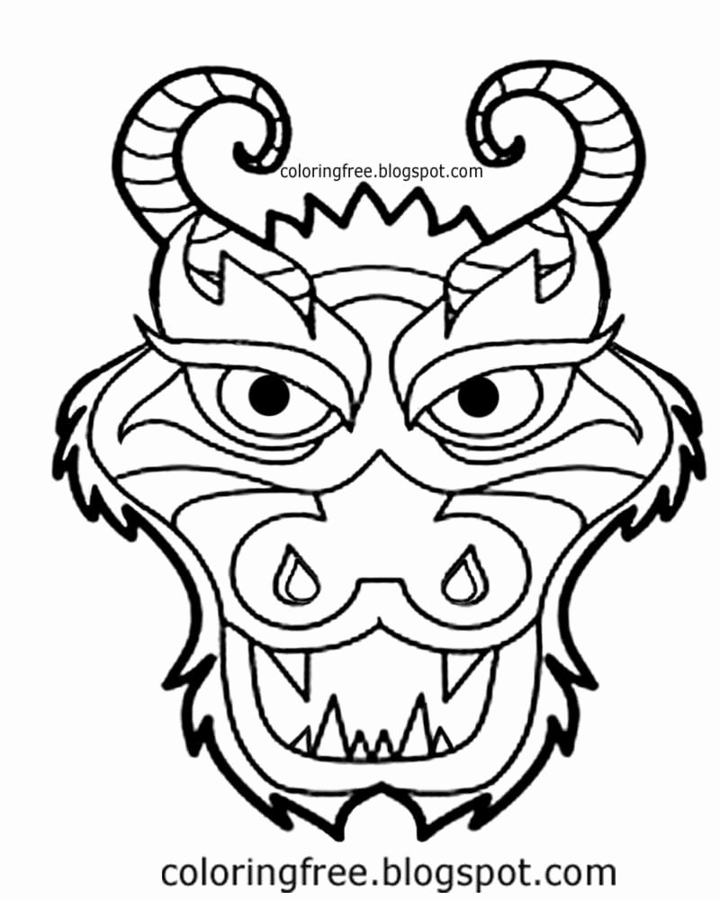 Coloring Pages For Kids Of A Dragon Face Dragon Coloring Page Dragon Face Dinosaur Coloring Pages