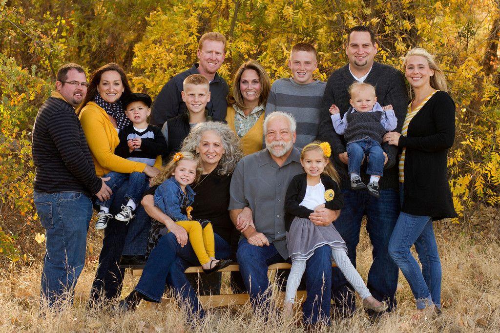 Family Photos- grey, black, yellow, denim