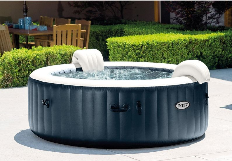 spa gonflable intex blue navy rond 6 places assises