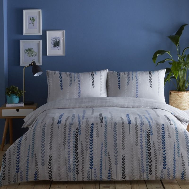 Single//Double//Kingsize Aviano Silver Bed Quilt Duvet Cover Set