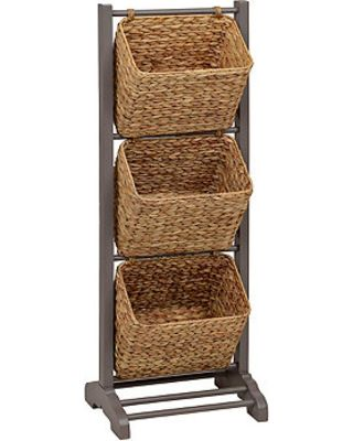 Kirkland S Gray 3 Tier Magazine Basket Tower From Kirkland S Home