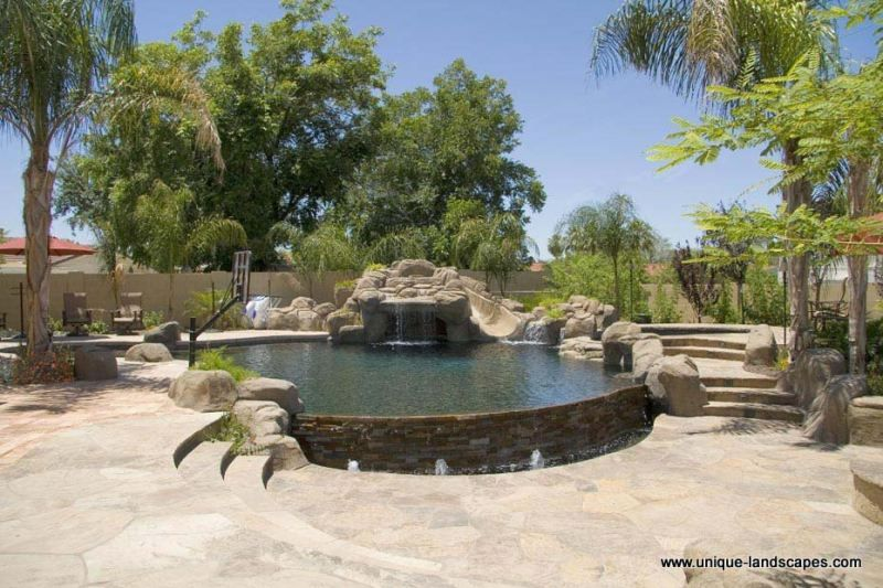 Backyard Desert Landscaping Ideas lawnless backyard desert backyard southwestern landscaping waterquest inc albuquerque nm Find This Pin And More On Swimming Pool Pictures Extraordinary Desert Landscaping Ideas