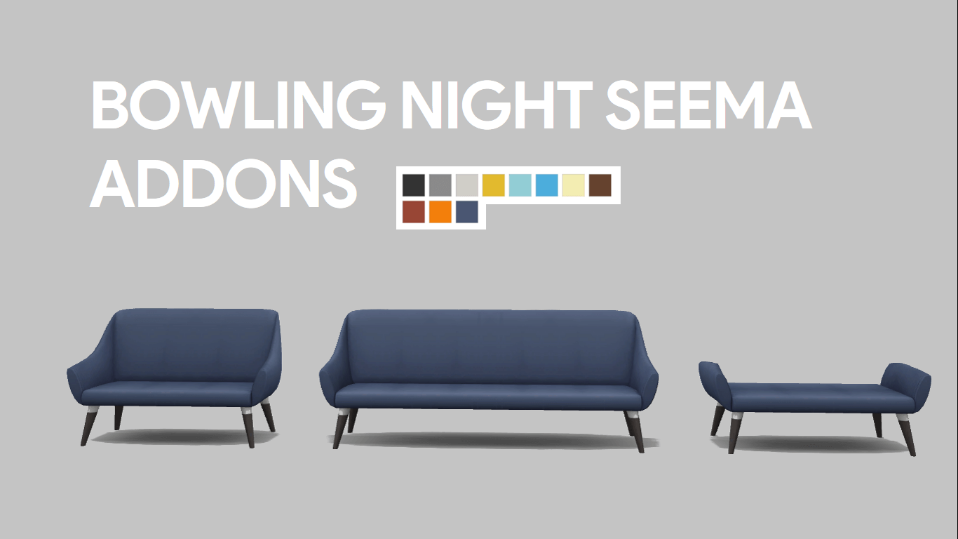 Sims 4 Dylan Sofa Beds 3 Addons For The Seema Living Chair Which Came With Bowling Night