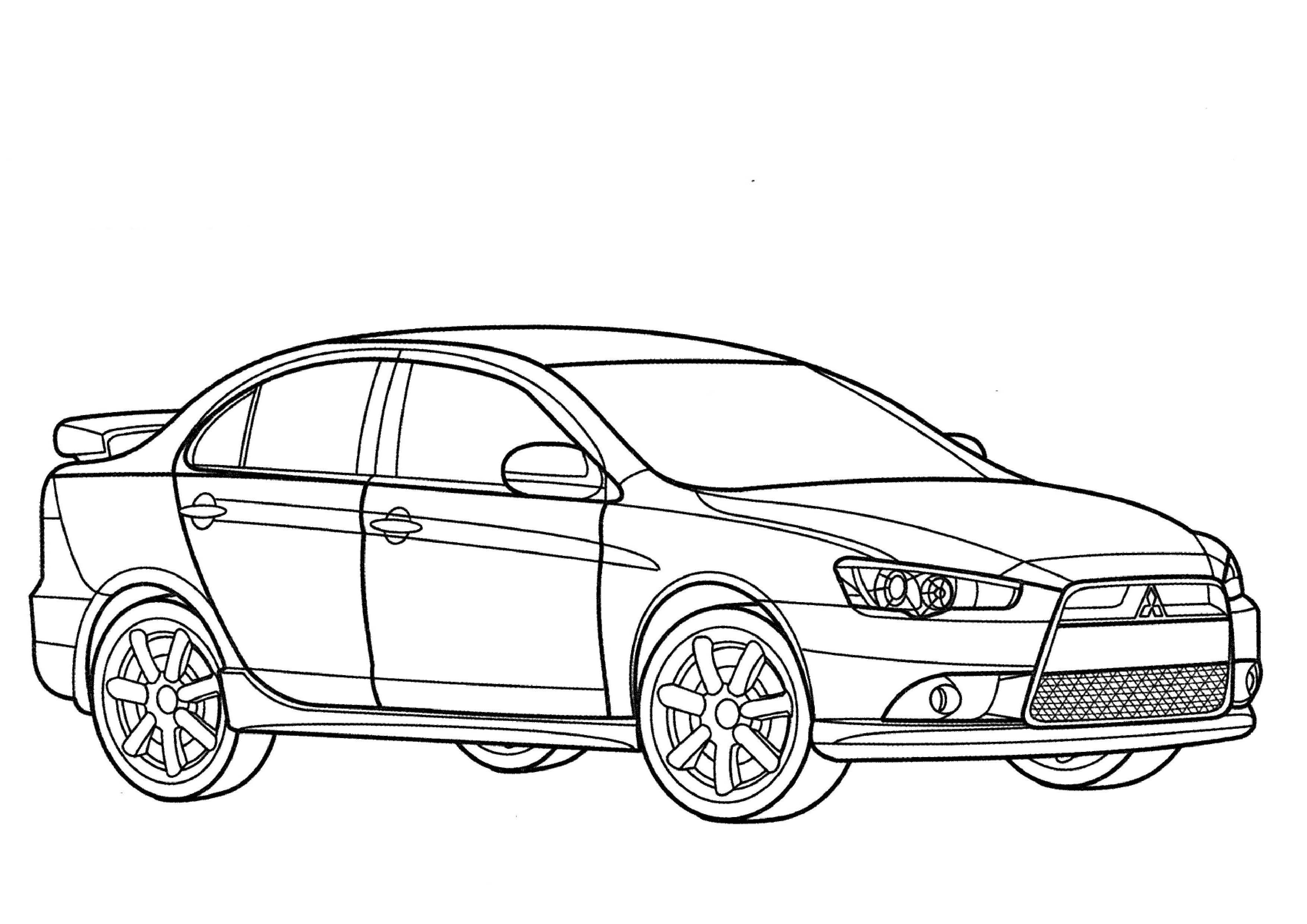 Mitsubishi Lancer Car Drawings Jdm Coloring Pages Evolution Colouring Of Cars Printable Books