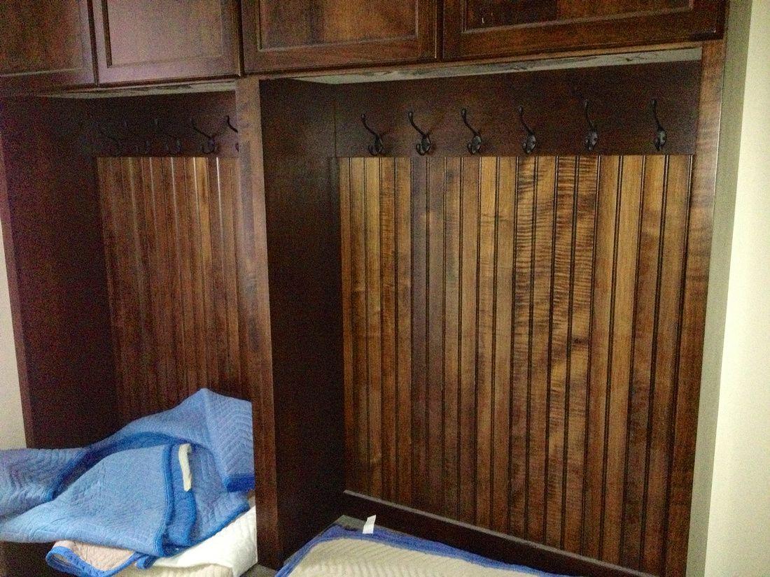 Lockers in mud room