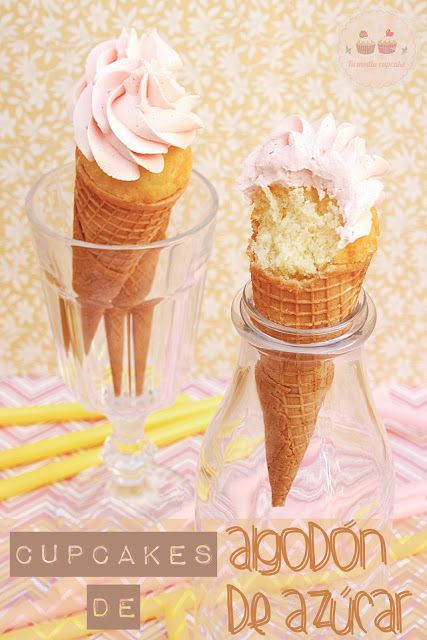 Tu medio cupcake: Cupcakes de Algodón de Azúcar y... Directo al Paladar habla de Tu medio cupcake!!!!
